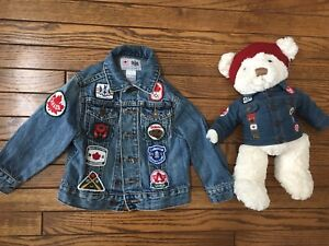 Jean coat 2t with matching bear