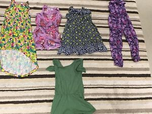 Girls size 7 summer dresses and rompers
