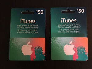 $50 ITUNES GIFT CARDS.