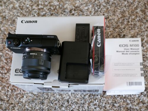 Canon EOS M100 24.2MP Mirrorless Digital Camera with 15-45mm Lens VG Condition