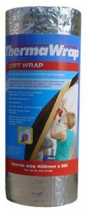 Thermawrap 400 mm x 5 m x 3.7 mm Loft Wrap Easy Fit Loft Insulation