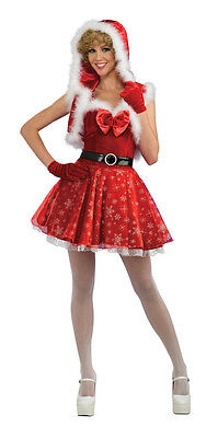 Mrs Claus Dress Up (Miss Snowflake Mrs. Claus Sexy Cute Dress Up Christmas Holiday Adult)