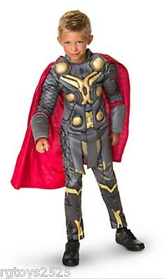 Disney Exclusive Avenger Thor Muscle Deluxe Costume age 5-6 S 7-8 M 10 New Child