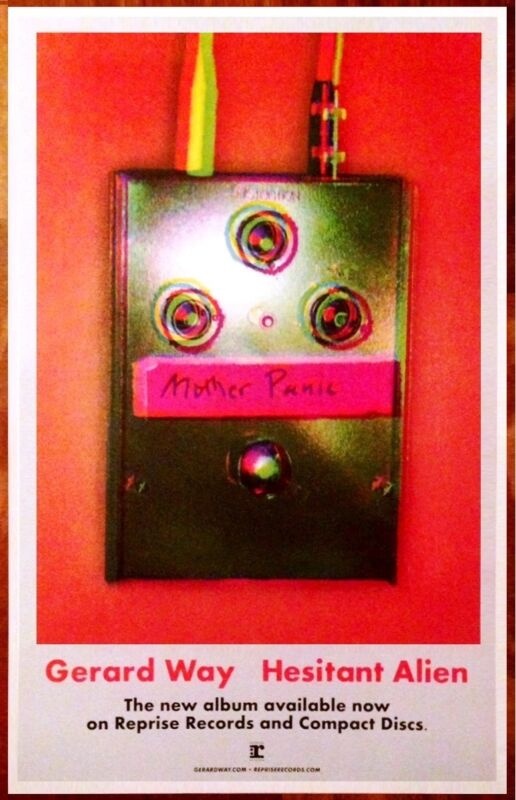 GERARD WAY Hesitant Alien Ltd Ed RARE Discontinued Poster! MY CHEMICAL ROMANCE