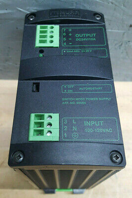 Murr Elektronik Mcs10-11524 Switch Mode Power Supply Single Phase 100-120v 24dc