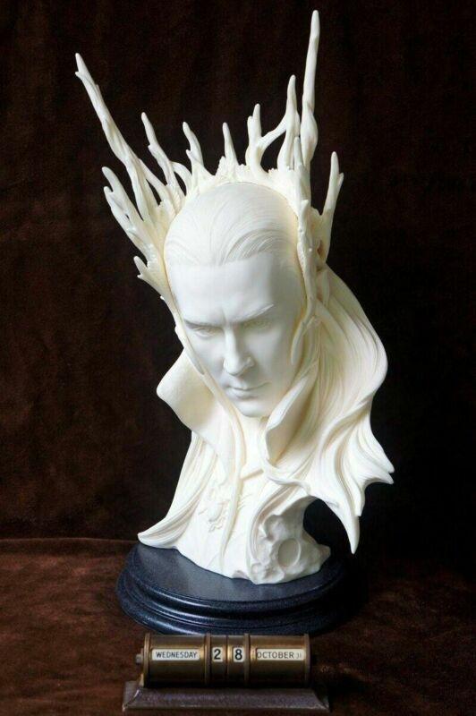 "LOTR Hobbit Elvenking Thranduil Resin Bust Statue Unpainted 17"""