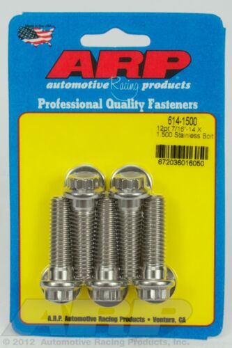 ARP 614-1500 7/16-14 X 1.500 12pt 1/2 wrenching SS bolts