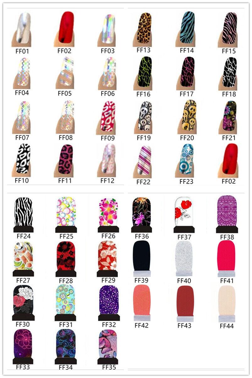 14-20 Nagelfolien Selbstklebend Nail Wraps Sticker Aufkleber Nail Folie Stripes