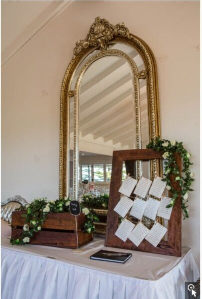 Wedding Reception Wishing Well And Seating Frame Miscellaneous