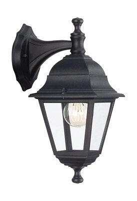 Basic Outdoor Wall Light Down Lantern Light In Black - Ip44 714260130 Lima