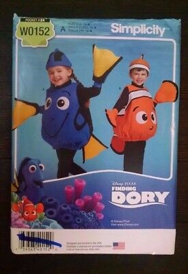 Simplicity Pattern 8239 Childs Dory Finding Nemo Fish Costume 1/2 - 4 - Fish Costume Patterns