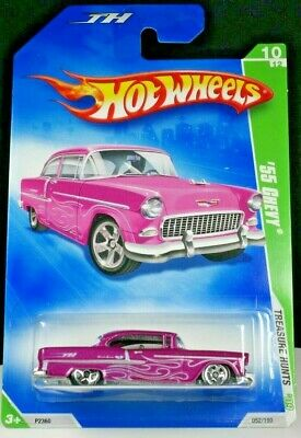 HOT WHEELS Treasure Hunt '55 CHEVY Diecast Car P2360 T-Hunt '09 #052/166