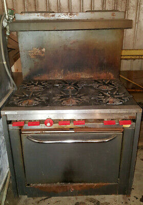 Vulcan Commercial Restaurant Kitchen 6 Six Burner Stove Gas Range Standard Oven