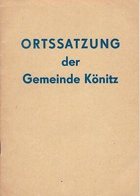 Ortssatzung der Gemeinde Könitz, 1975