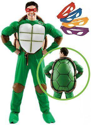 erren Kostüm Deluxe TMNT Schildkröte Turtle Turtles + Panzer (Tmnt Kostüm Herren)