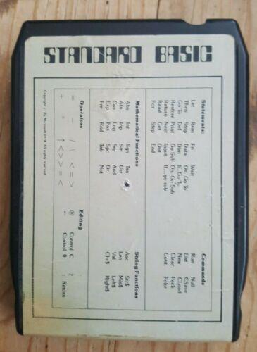 RARE Exidy Sorcerer BASIC ROM PAC vintage computer cartridge - WORKS!