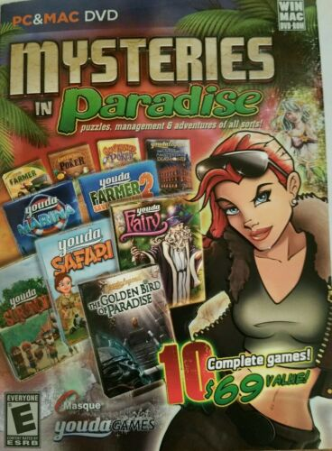 Computer Games - Mysteries In Paradise - 10 complete  computer games!  New!