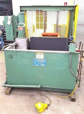 Jensen Industrial Parts Washer Engines Molds Clean Heavy Parts With Lift