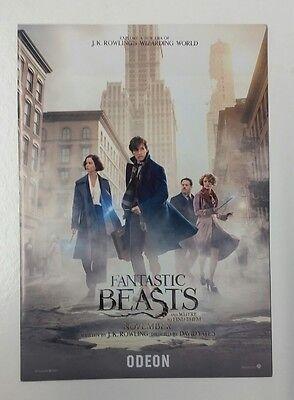 Fantastic Beasts (Harry Potter) Odeon A5 Promotional Leaflet