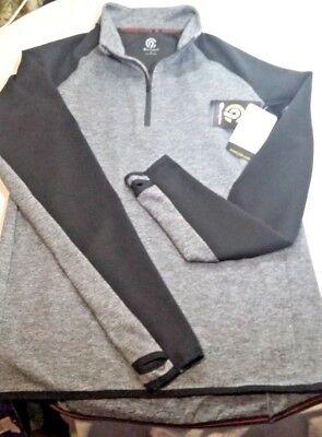 Champion Power Core Warm Compression Mens S Long Sleeve Shirt Gray Thumbholes