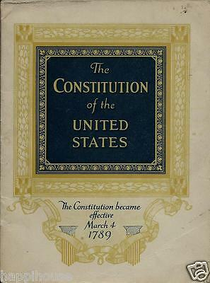 The Constitution Of The United States 1930 John Hancock Life Insurance Booklet