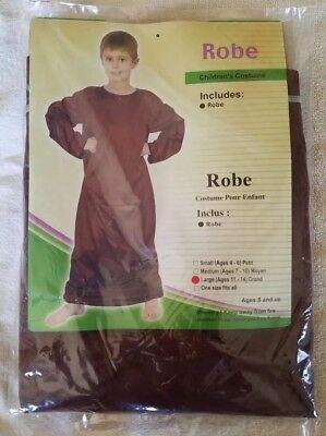 Brown Robe Costume Oriental Trading Company Halloween Child Size Large - Oriental Trading Costumes