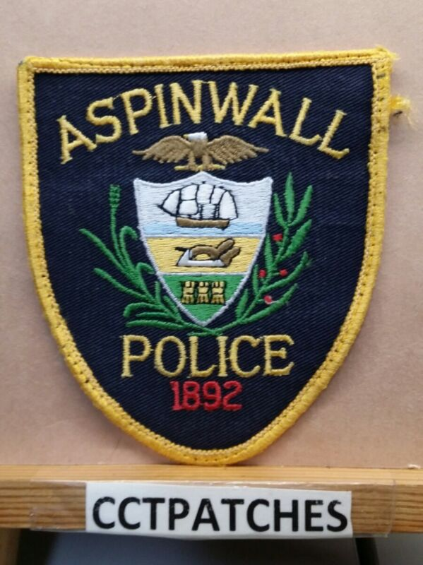 ASPINWALL, PENNSYLVANIA POLICE SHOULDER PATCH PA