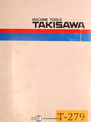 Takisawa Mac-v2 And V3 Lathe Operations Manual Year 1956