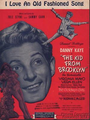 1946 Film (The Kid From Brooklyn) Sheet Music (I Love an Old Fashioned Song)