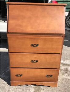 Vintage hardrock maple desk dresser URGENT SALE