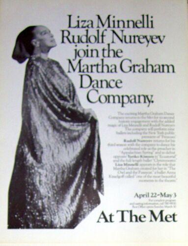 Original Print/Poster-MARTHA GRAHAM DANCE-Met Opera House-NUREYEV-MINELLI-1980