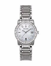 Bulova Women's 96R105 24-Diamonds Quartz Mother of Pearl Dial Bracelet Watch
