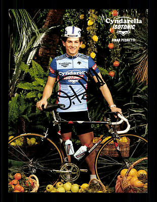 Omar Pedretti Autogrammkarte Original Signiert Radfahren+A 124024