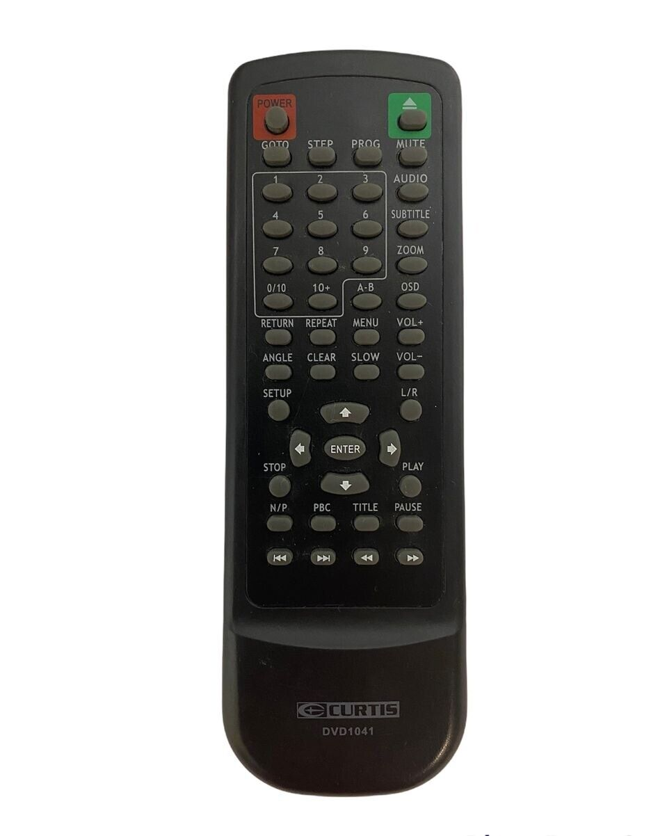 CURTIS DVD1041 Remote Control Tested And Working Free Shipping - $11.95