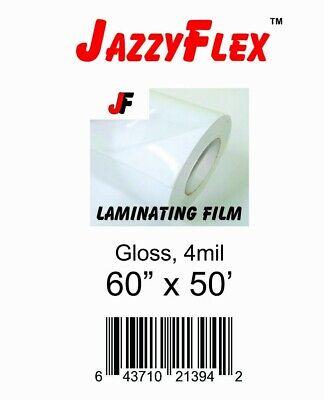 Jazzyflex - Cold Laminating Film 60 X 50 Roll 4mil Thck