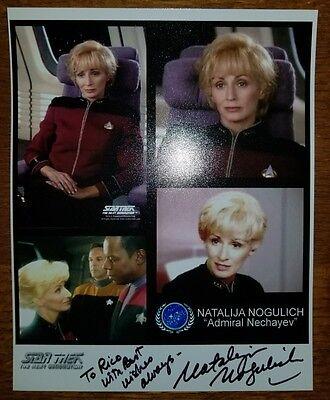 Star Trek NATALIJA NOGULICH hand signed AUTOGRAPH 8x10