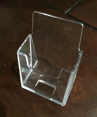 Qty 4 Acrylic Vertical Business Card Holder Stand Display Wholesale Clear