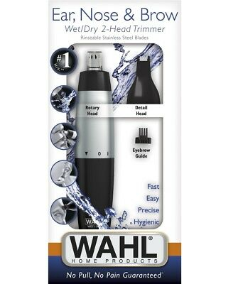 Wahl 5560210 Nose Ear Trimmer Eyebrow Neck Hair Groomer Micro Personal Shaver  for sale  Brooklyn