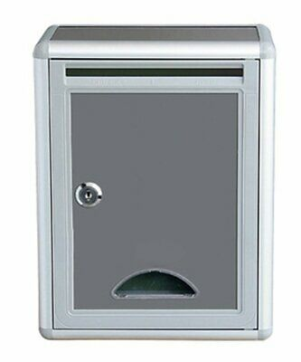 Key Lock Drop Box Wall Mount Office Mail Slot Cash Donation Security Suggestion