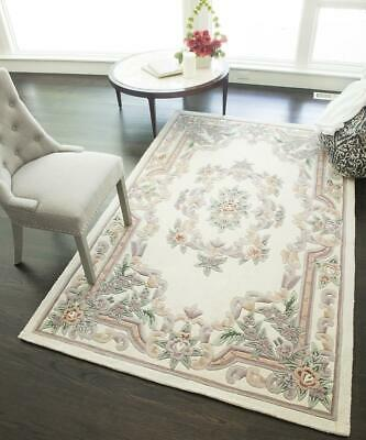 Ivory Wool Hand Crafted European Rugs, 4x6;5x8;8x11;2x10;6 Round;Mat ()