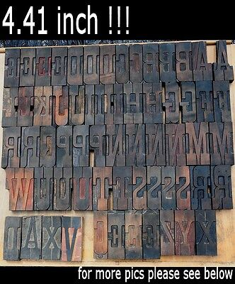 Letterpress Wood Printing Blocks 60 Pieces 4.41 Tall Alphabet Type Woodtype Abc