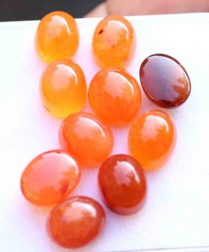 48.00 Ct Natural Orange Carnelian Cabochon Loose Gemstone Stone