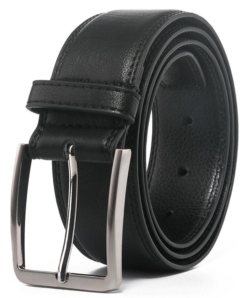 Men's Leather Dress Belt with Single Prong Buckle Belts for Men,1.5 inch wide Belts