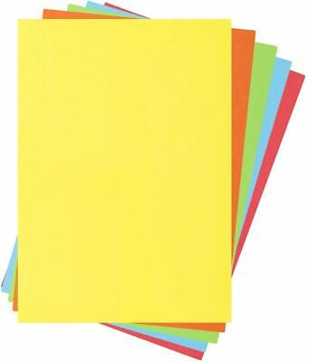 A4 Assorted Coloured Bright Paper 100 Sheets (80gsm)