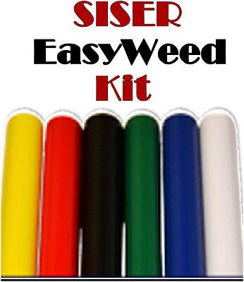 Siser Easyweed Heat Transfer Press Vinyl Kit- 18 X 15 Each 6 Rolls