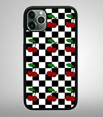 CHERRY CHECKERED BLACK Apple iPhone Case For iPhone 11/XR/XS/X/8/7/6S/6 Cover Apple Iphone Cherries