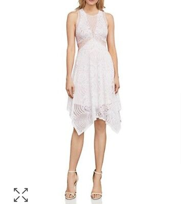 NWT Bcbg Meilani Asymmetrical Floral Lace Dress