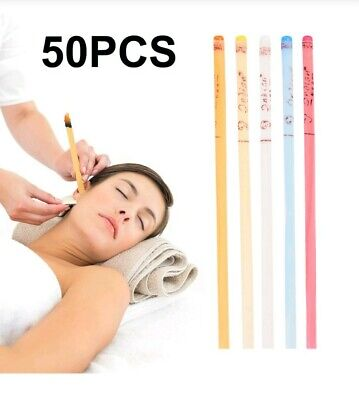 50 PCS Natural Ear Wax cleaner Candles Non- toxic candling cones. , used for sale  Shipping to Canada