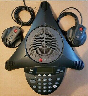 Polycom Soundstation2 2201-16200-601 Bundled With 2 External Mics Analog