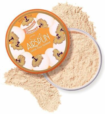 COTY AIRSPUN LOOSE FACE POWDER TRANSLUCENT EXTRA COVERAGE FULL SIZE NEW &...